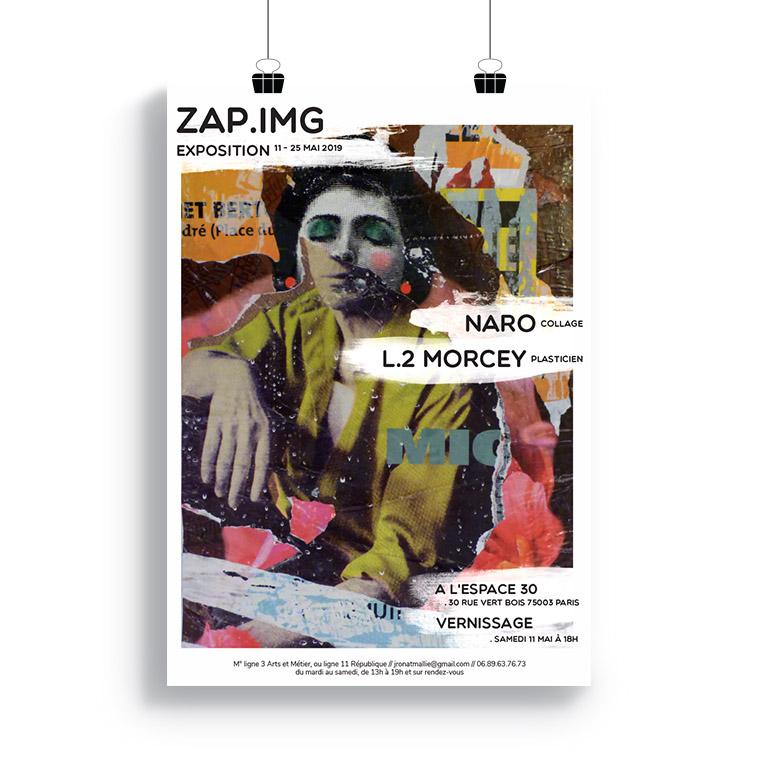 design graphique affiche exposition Zapimg