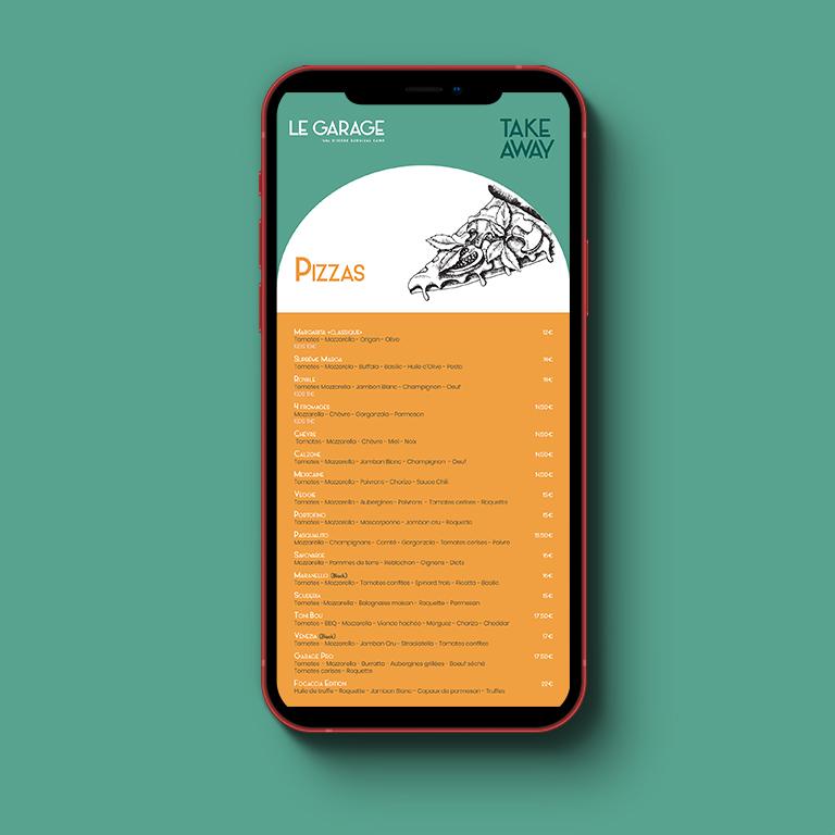 Menus restaurant print et web
