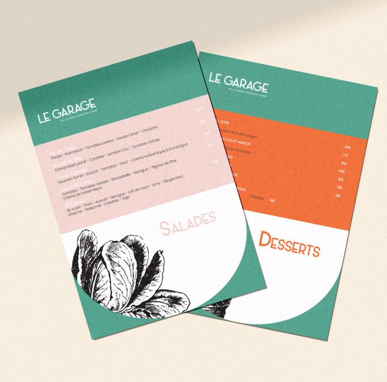 Menus restaurant print - design graphique