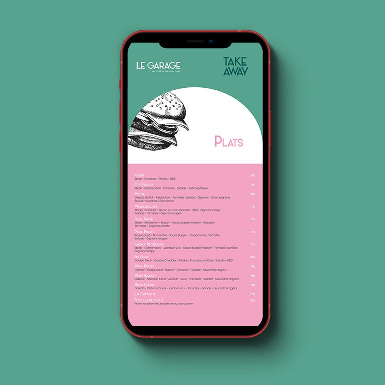 Carte restaurant print et web