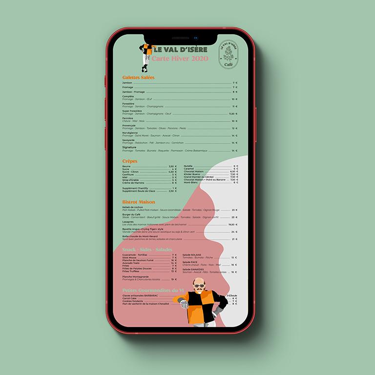 design graphique menu restaurant web