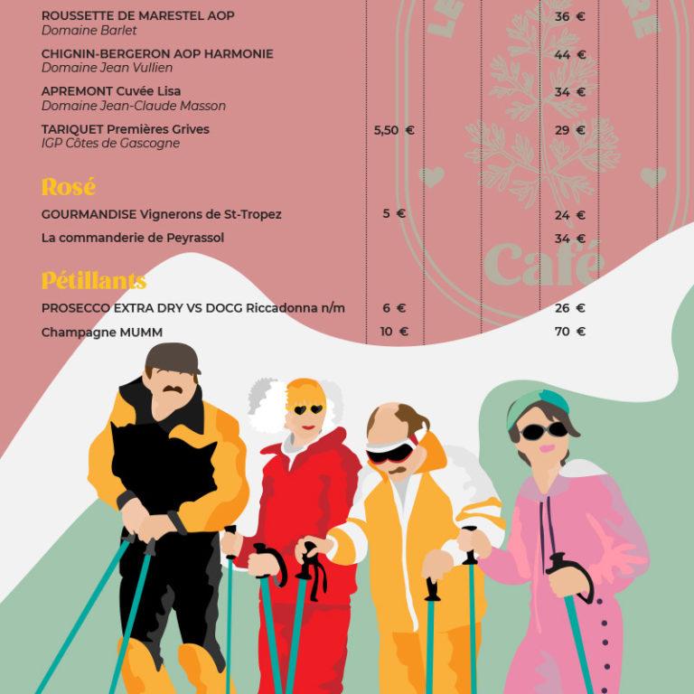 design graphique menu vin
