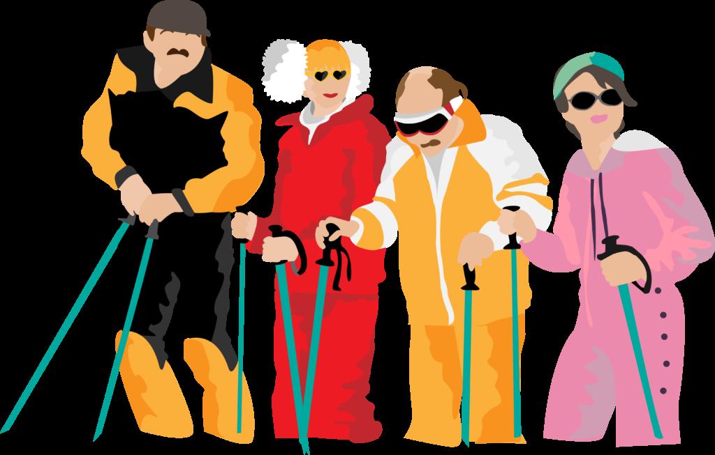 Illustration les bronzés font du ski
