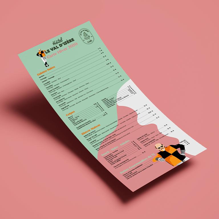 design graphique menu restaurant