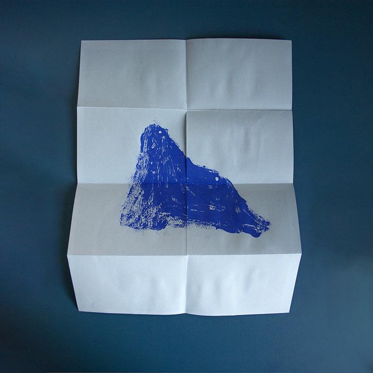 Poster montagne gravure lyon