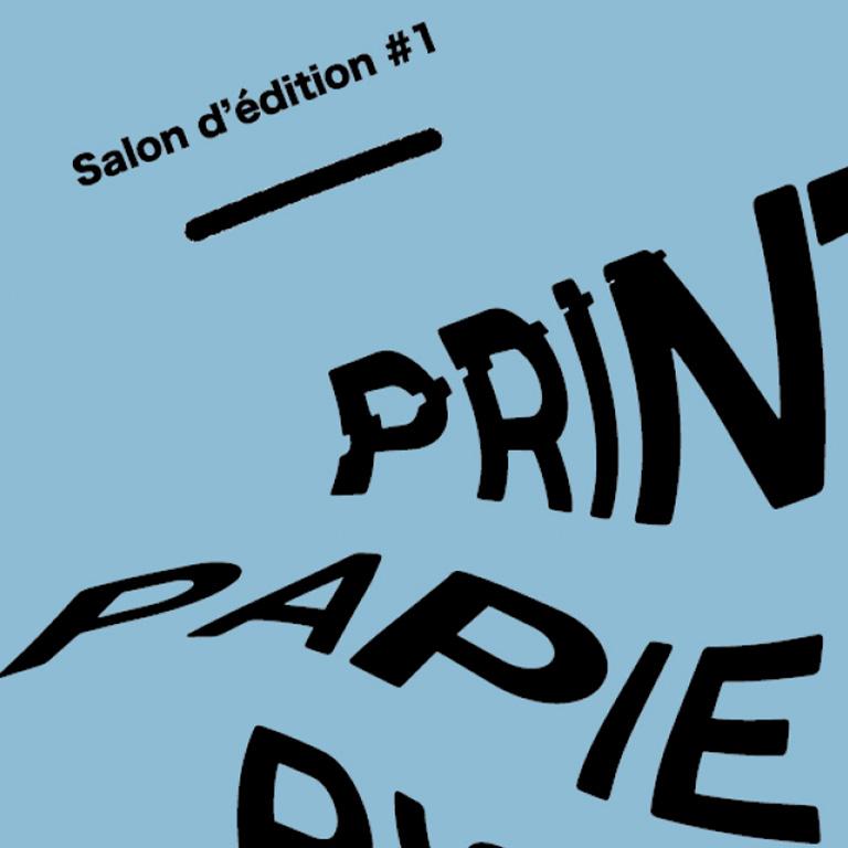 identité visuelle - salon d'édition Lyon Print Papier Riso