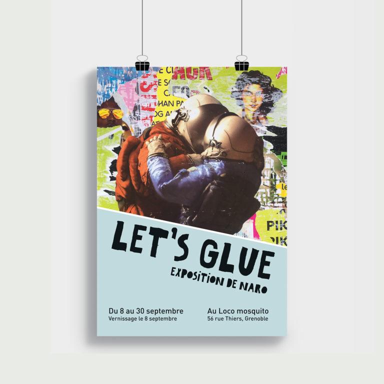 Visuel exposition poster Let's glue